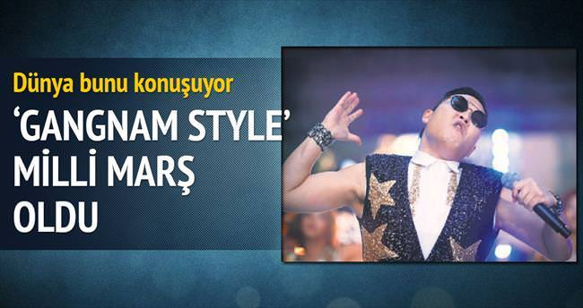 'Gangnam Style' milli marşı oldu!