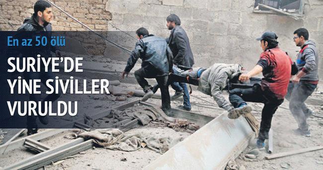 Doğu Guta'da yine siviller vuruldu: 50 ölü