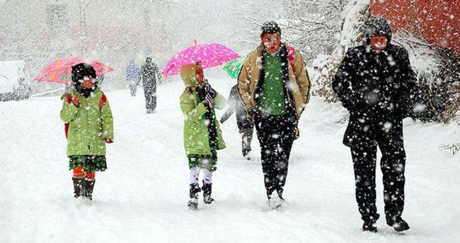 Okullara kar tatili olan il ve ilçeler