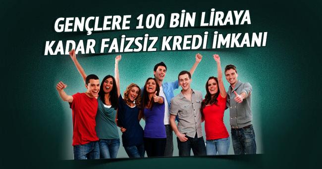 Gençlere 100 bin liraya kadar faizsiz kredi imkanı