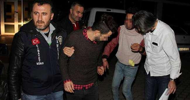 Balkondan eve girip gasp yapan 4 Iraklı tutuklandı