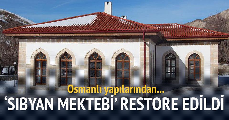 Sivas'taki 'sıbyan mektebi' restore edildi