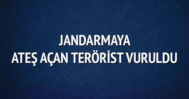 Jandarmaya ateş açan terörist vuruldu