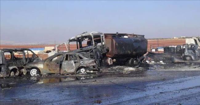 Rusya yakıt pazarına saldırdı: 25 ölü 30 yaralı
