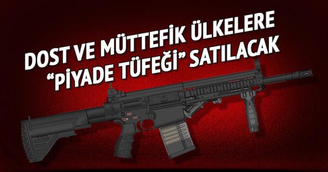 Türkiye dost ve müttefik ülkelere piyade tüfeği satacak