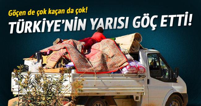 Türkiye'de milyonlarca kişi göç etti