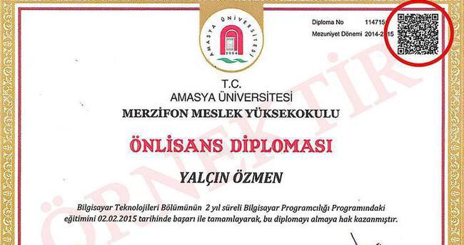 'Karekodlu diploma' uygulaması
