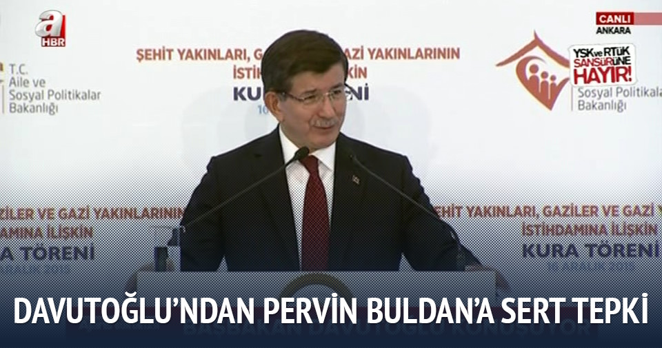 Davutoğlu'ndan Pervin Buldan'a sert tepki