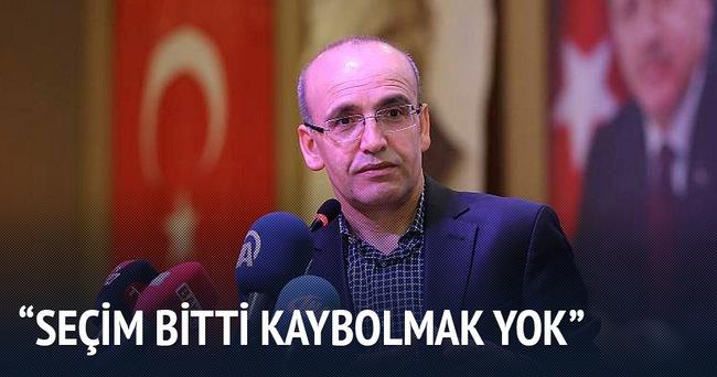 Mehmet Şimşek: Seçim bitti kaybolmak yok