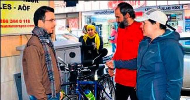 Polonya'dan bisikletle Türkiye'ye geldiler