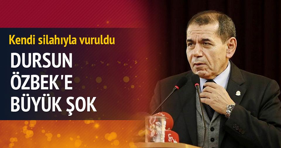 Dursun Özbek'e büyük şok