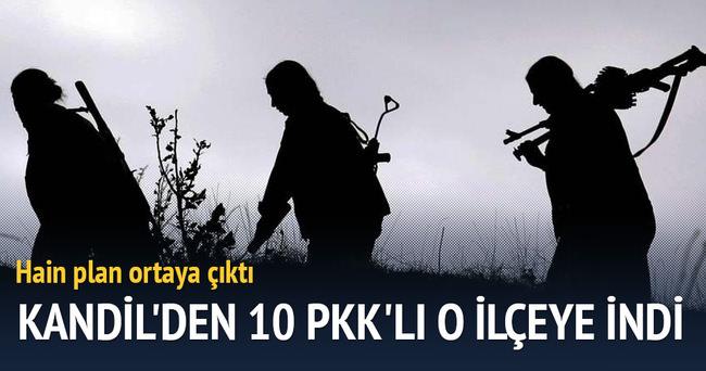 Kandil'den 10 PKK'lı o ilçeye indi