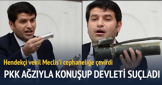 HDP'li vekil Meclis'î cephaneliğe çevirdi