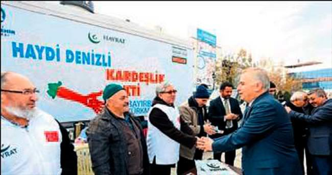 Türkmenler için yardım eli uzatıldı