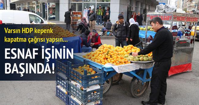 Diyarbakır'da HDP'nin çağrısı cevapsız kaldı!