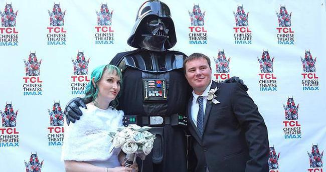 Hollywood'da Star Wars nikahı