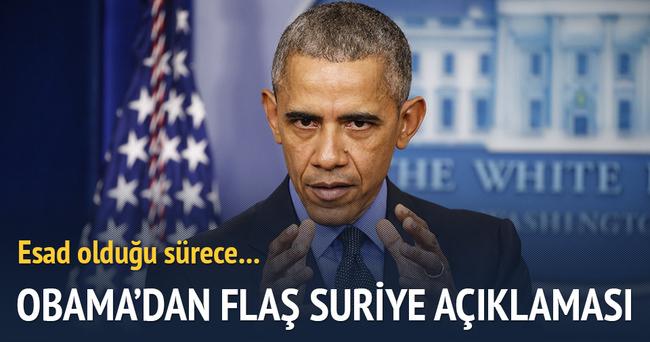 Obama'dan flaş Suriye açıklaması