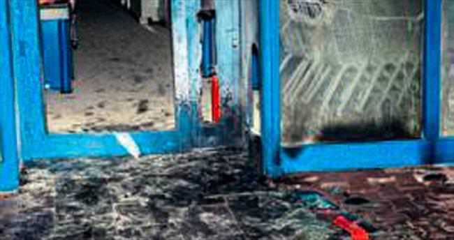Mamak'ta bir markete molotof kokteylli saldırı