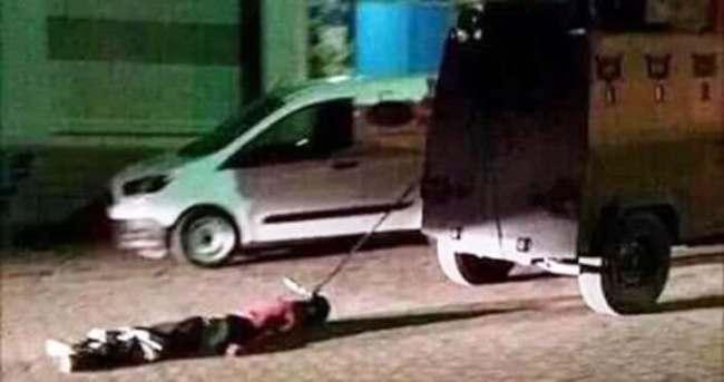 PKK'lı cesedini sürükleyen polisler meslekten atıldı