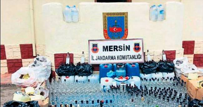 Mersin'de sahte içkiye jandarmadan darbe