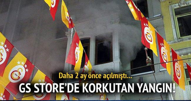 Galatasaray Store'de yangın çıktı!