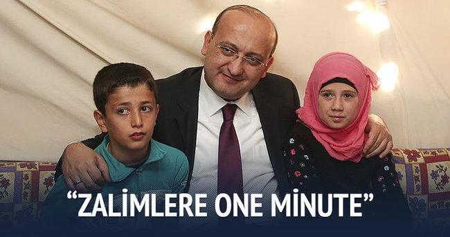 Akdoğan:Zalimlere One Minute