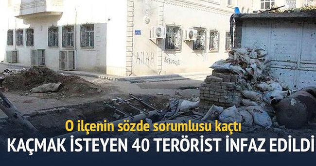Cizre'de kaçmak isteyen 40 terörist infaz edildi