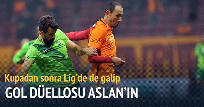 Gol düellosu Galatasaray'ın