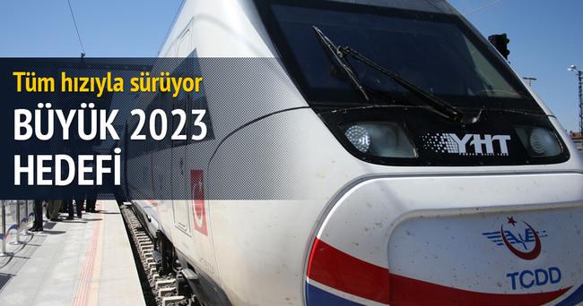 2023'e kadar 25 bin kilometre demiryoluna ulaşılacak