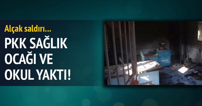 PKK okul ve sağlık ocağı yaktı