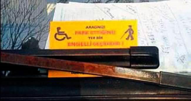 Engel çıkarana kartvizitli uyarı
