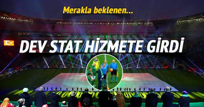 Timsah Arena hizmete açıldı