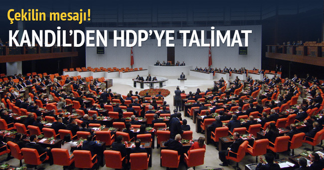 Kandil'den HDP'li vekillere talimat