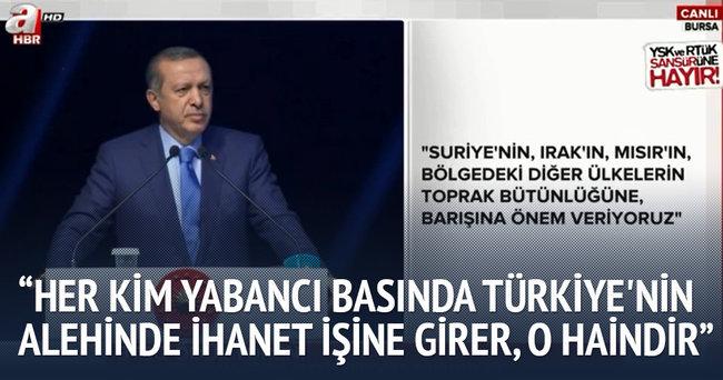 Cumhurbaşkanı  Erdoğan Bursa'da konuştu