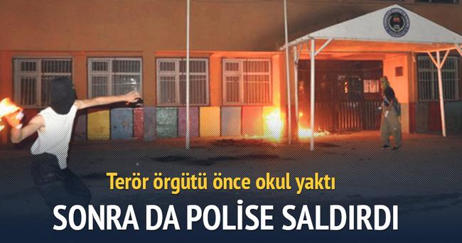 Diyarbakır'da PKK'lılar okul yaktı