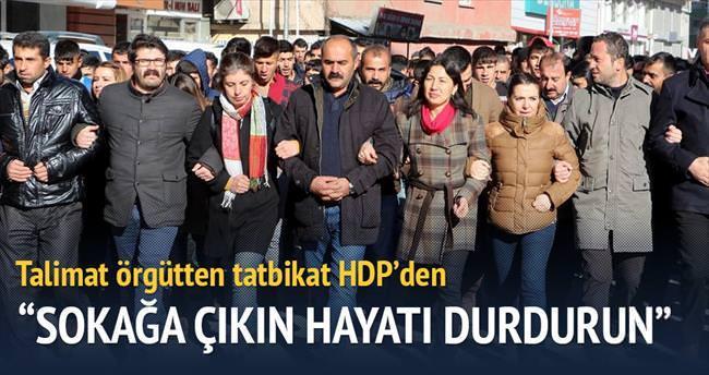 Talimat örgütten tatbikat HDP'den