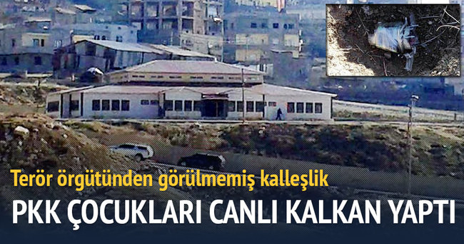 PKK, çocukları siper yaptı