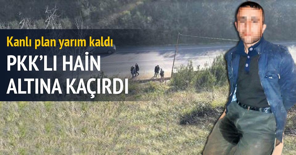 PKK'lı terörist korkudan altına kaçırdı
