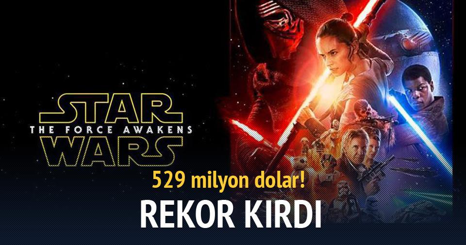 'Star Wars 7: Güç Uyanıyor' rekor kırdı