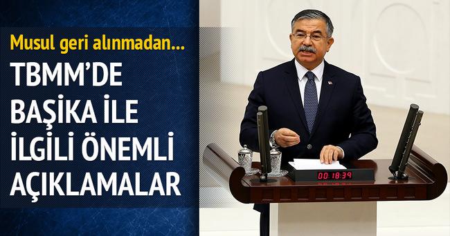 Savunma Bakanı Yılmaz'dan Başika açıklaması