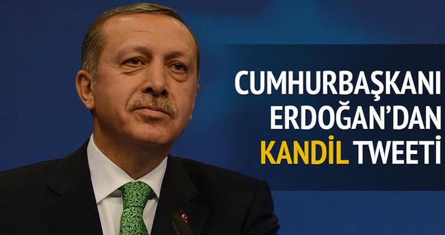 Cumhurbaşkanı Erdoğan'dan Kandil tweeti