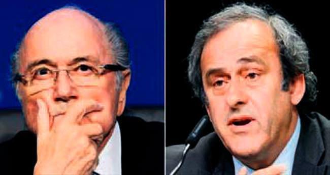 Blatter ve Platini son maçlarına çıktılar