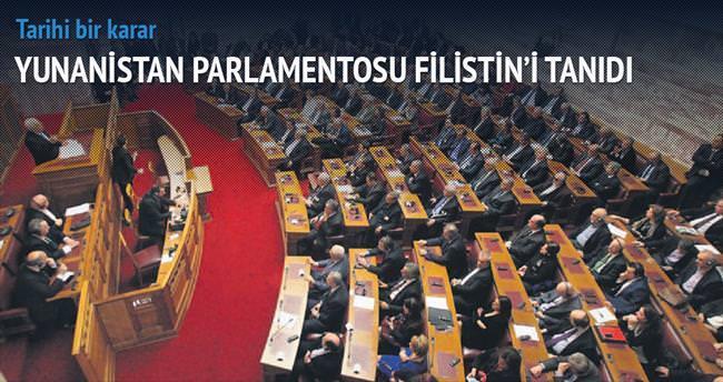 Yunanistan Parlamentosu Filistin'i oybirliğiyle tanıdı
