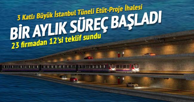 3 Katlı Büyük İstanbul Tüneli Etüt-Proje İhalesi