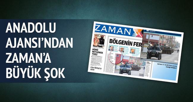 Anadolu Ajansı'ndan Zaman gazetesine dava