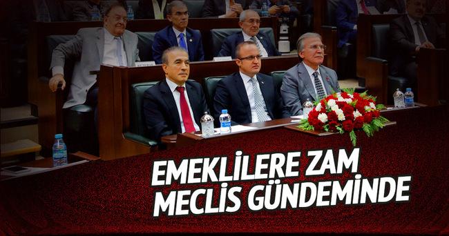 Emeklilere zam meclis gündeminde