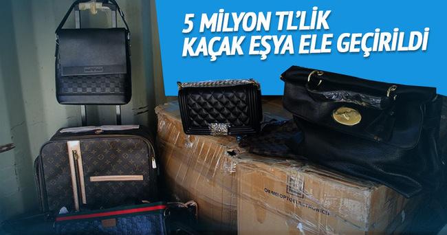 5 milyon TL'lik kaçak eşya ele geçirildi
