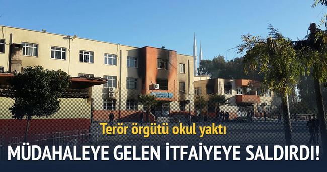 Terör örgütü itfaiyeye ateş açtı: 4 yaralı