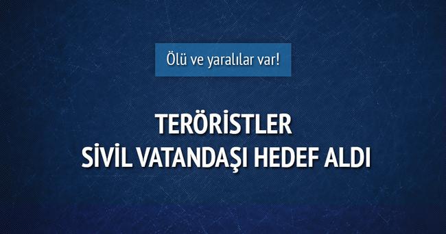 Teröristler sivil vatandaşın evini taradı!