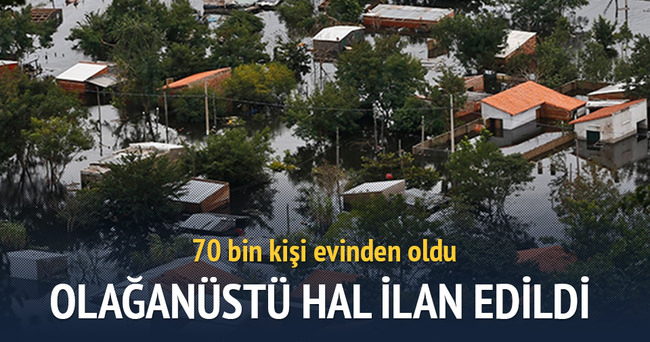 Şiddetli yağışlar 70 bin kişiyi evinden etti
